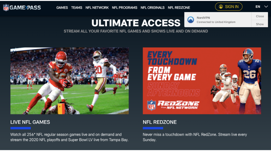 NFL Game Pass International in the US -- easy way to get it