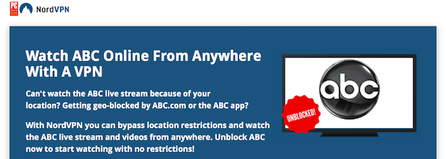 Watch ABC live stream from any location